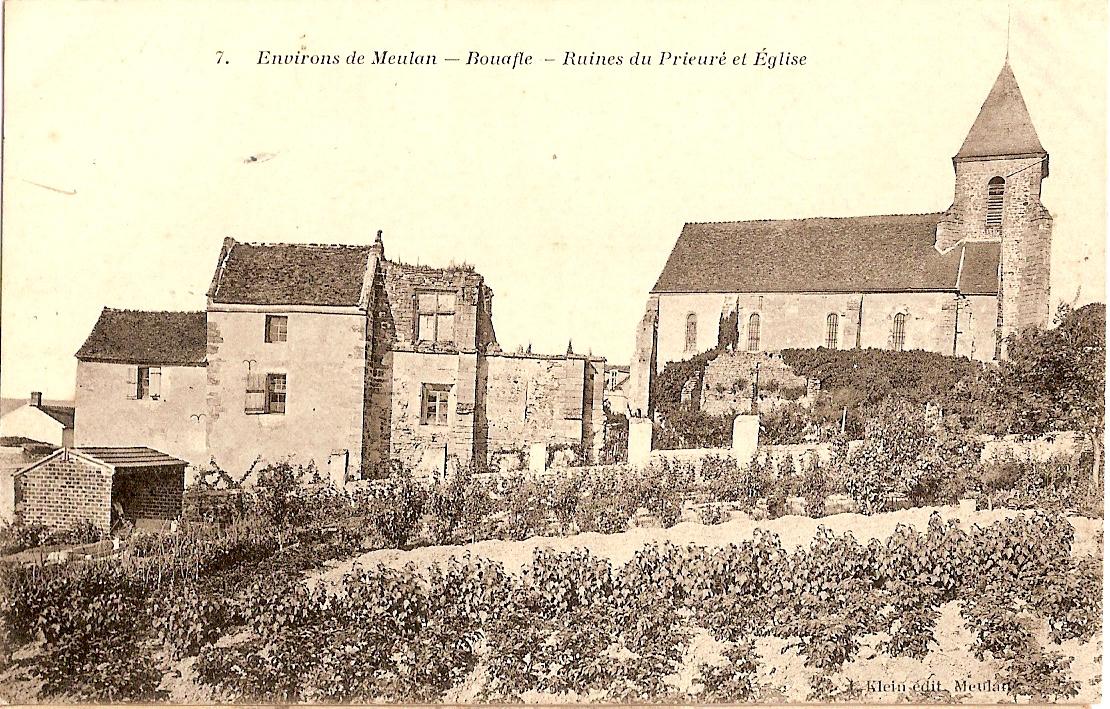 Bouafle-glise-et-ruines-du-Prieur