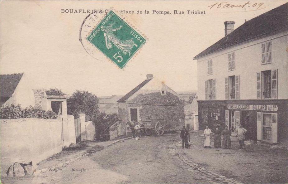 Bouafle-place-de-la-pompe-et-rue-Trichet