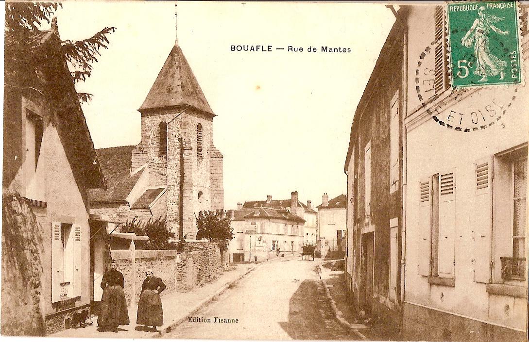 Bouafle-rue-de-Mantes-actuellement-rue-de-lglise