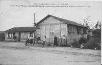 Dives-grande-rue-et-baraquements-provisoires-maison-Duquesnes-aprs-le-dpart-des-Allemands-en-1918