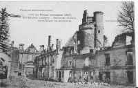 Dives-ruines-du-chteau-aprs-lincendie-de-1917